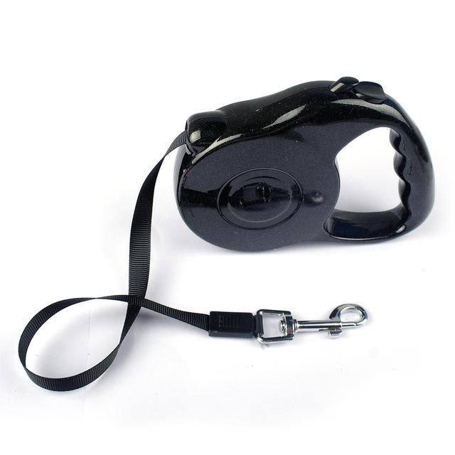 Retractable and Extending Dog Leash Dog Leads & Collars Pet Clever Black 3M