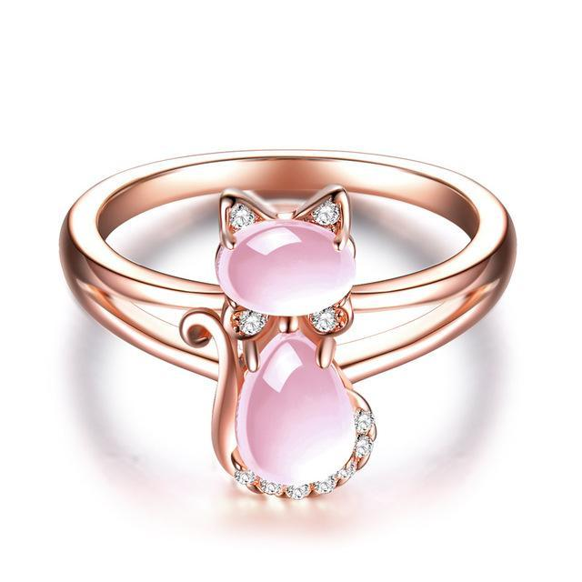 Rose Gold Cat Ring Jewelry Cat Design Jewelry Pet Clever 6