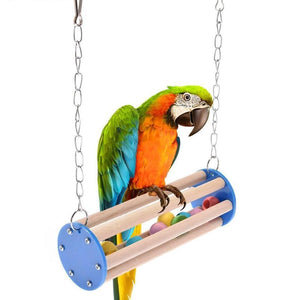 Rotating Bird Play Stand with Balls Inside Standing Birds Pet Clever