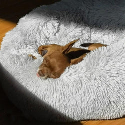 Round Fluffy Pet Calming Bed