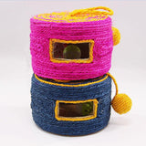 Round Shape Sisal Toy with Bell Ball Inside Cat Toys Pet Clever