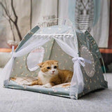Semi-Enclosed Tent Cat House Dog Beds & Blankets Pet Clever XS 4