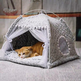 Semi-Enclosed Tent Cat House Dog Beds & Blankets Pet Clever XS 7