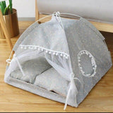 Semi-Enclosed Tent Cat House Dog Beds & Blankets Pet Clever XS 3