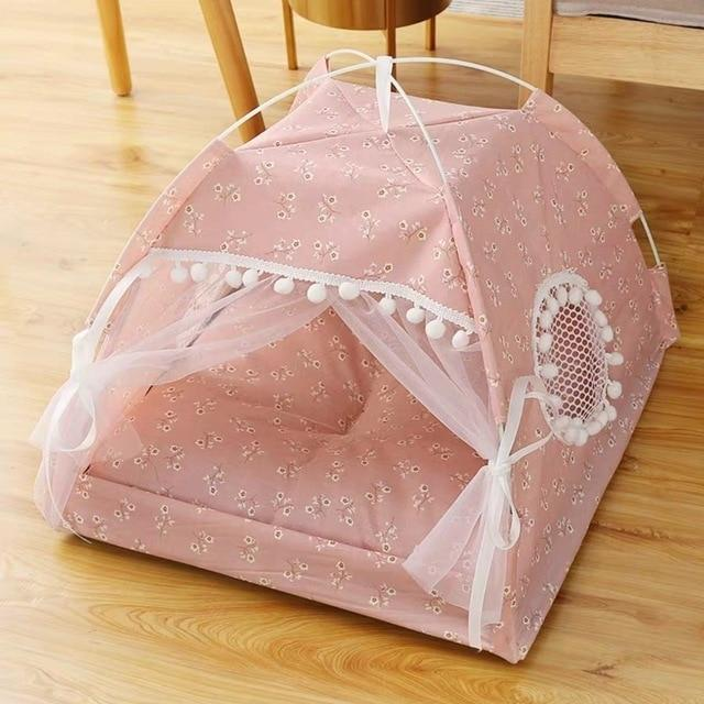 Semi-Enclosed Tent Cat House Dog Beds & Blankets Pet Clever XS 1