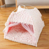 Semi-Enclosed Tent Cat House Dog Beds & Blankets Pet Clever XS 6