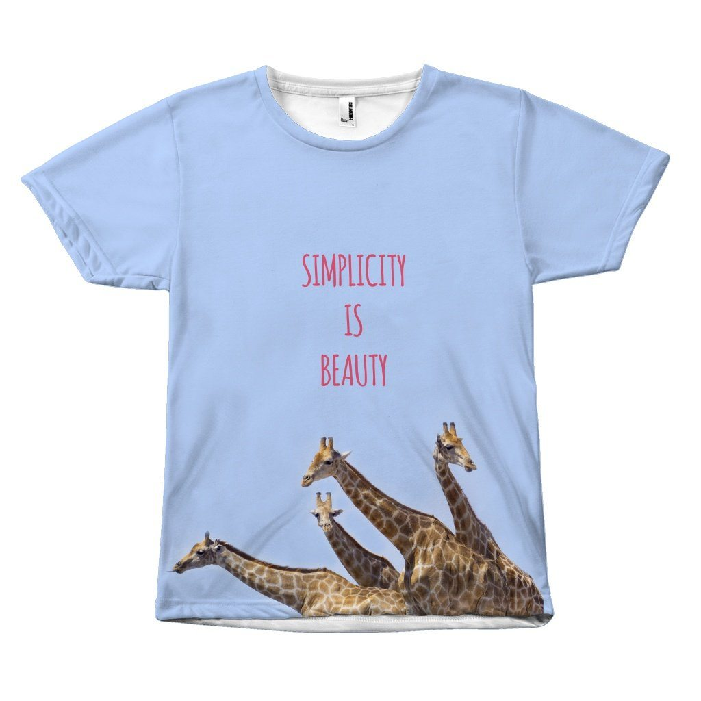 Simplicity Statement Giraffe Design T-Shirt All Over Print teelaunch Giraffe S