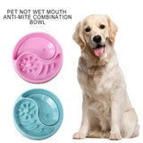 Slow Eating Feeder Dish Bowl Dog Bowls & Feeders Pet Clever