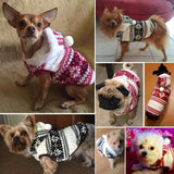 Snowflake Print Christmas Dog Sweater Hoodie Coat Dog Clothing Pet Clever
