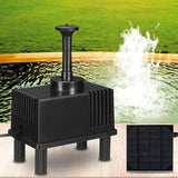 Solar Panel Fountain Watering Pump Fountain Pump Pet Clever