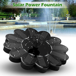 Solar Powered Water Fountain Pump Floating Panel Fountain Pump Pet Clever