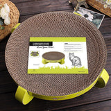 Strong Round Cat Scratch Bed Toy with Catnip Cat Trees & Scratching Posts Pet Clever