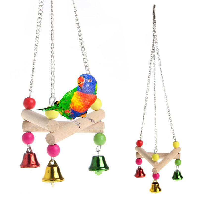 Swinging Hammock Standing Bird Platform Toy Standing Birds Pet Clever