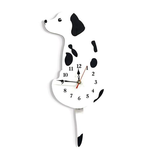 Tail Wagging Labrador Dog Wall Clock Home Decor Dogs Pet Clever White