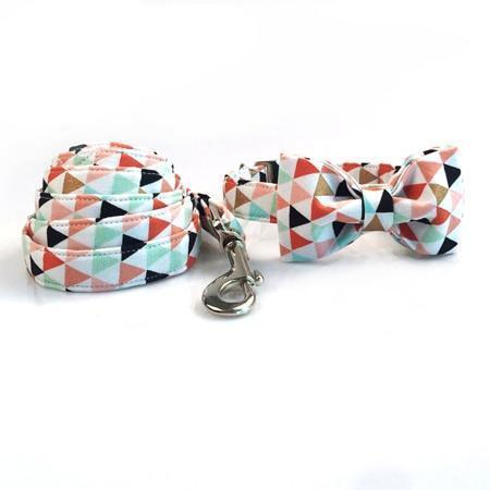 The Banner™ Fashion Pet Set of Collar & Leash Metal Buckle Artist Collars & Harnesses Pet Clever collar bow and leash XS