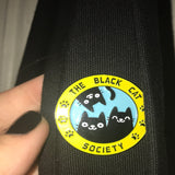 The Black Cat Society Enamel Brooch Cat Design Accessories Pet Clever