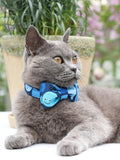The Blue Whale™ Fashion Pet Set of Collar & Leash Artist Collars & Harnesses Pet Clever