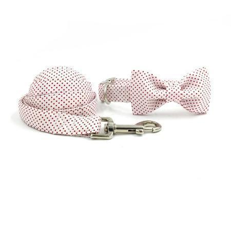 The Classic™ Fashion Pet Set of Collar & Leash Artist Collars & Harnesses Pet Clever collar bow and leash XS