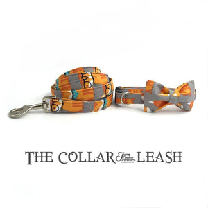 The Fox™ Fashion Pet Set of Collar & Leash Artist Collars & Harnesses Pet Clever