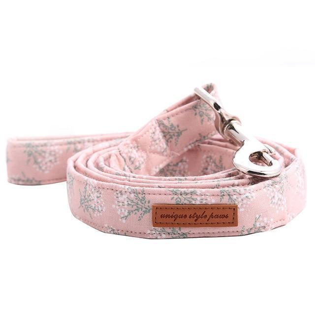 The Lovely Pink™ Fashion Pet Set of Collar & Leash Artist Collars & Harnesses Pet Clever leash XS