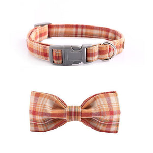 The Orange Plaid™ Fashion Pet Set of Collar & Leash Artist Collars & Harnesses Pet Clever