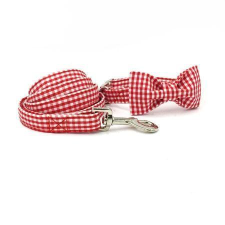 The Red™ Fashion Pet Set of Collar & Leash Artist Collars & Harnesses Pet Clever collar leash bow XS