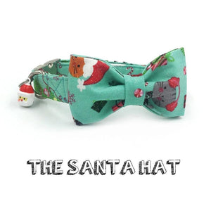 The Santa Hat™ Fashion Pet Set of Collar & Leash Artist Collars & Harnesses Pet Clever