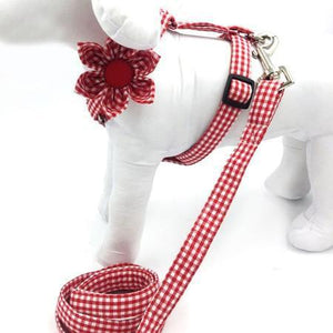 The Sassy Red™ Fashion Pet Set of Collar, Leash & Harness Artist Collars & Harnesses Pet Clever harness leash flower S