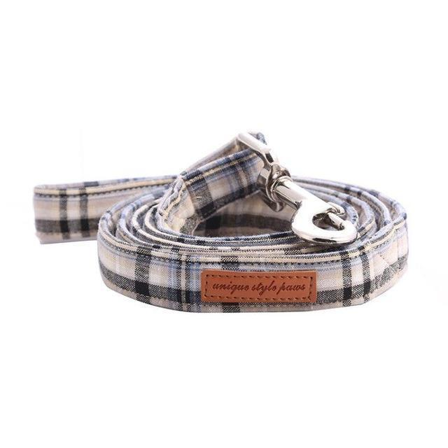 The White Plaid™ Fashion Pet Set of Collar & Leash Artist Collars & Harnesses Pet Clever leash XXS