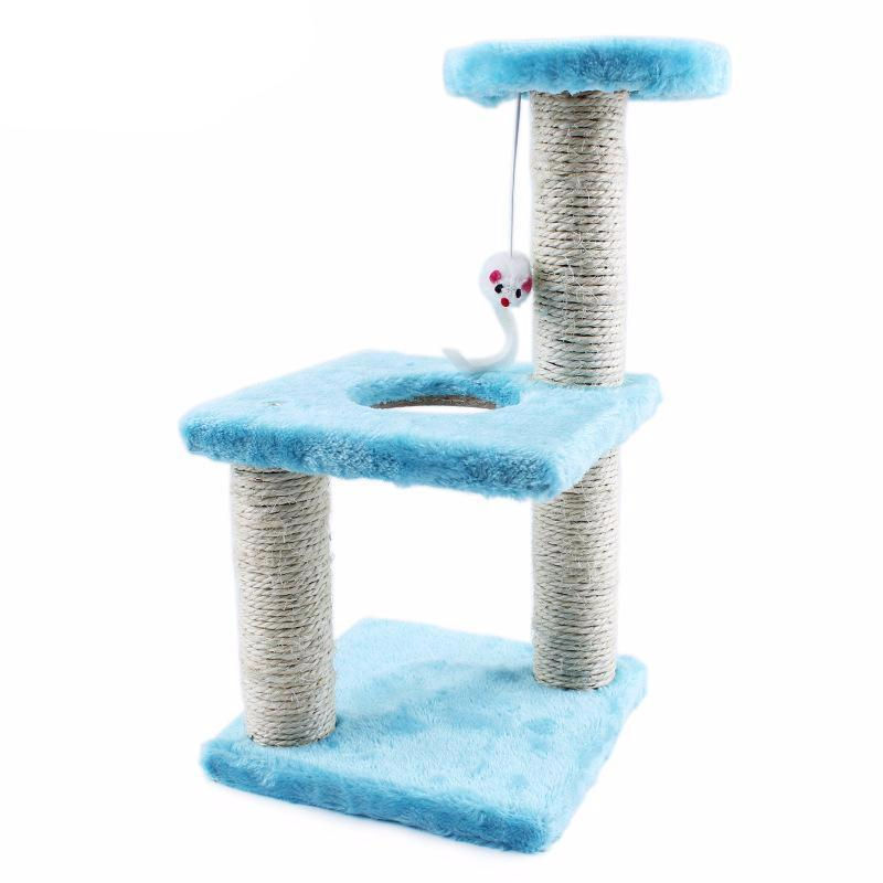 Three Layer Cat Climbing Scratch Board Tree Cat Trees & Scratching Posts Pet Clever