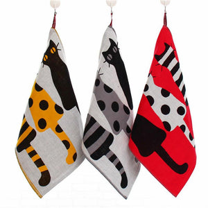 Three-layer Kitchen Hanging Towel Cat Design Accessories Pet Clever