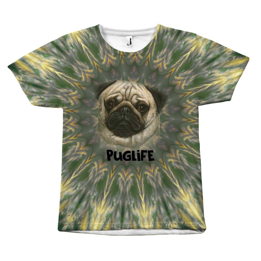 Thuglife Puglife Design T-Shirt All Over Print teelaunch Puglife S