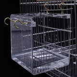 Transparent Pet Bird Bath House with Hanging Hooks Bird Bath Pet Clever