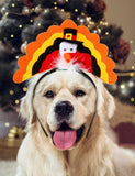 Turkey Dog Headband for Thanksgiving Dog Clothing Pet Clever