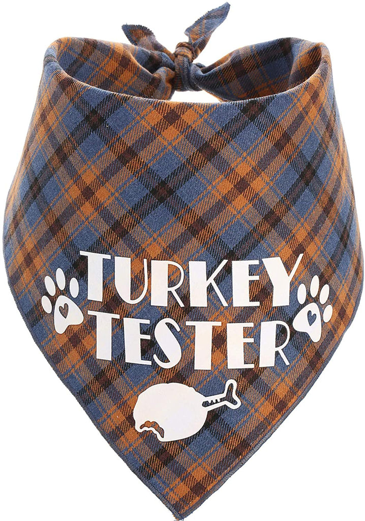 Turkey Taster Thanksgiving Bandana Dog Clothing Pet Clever