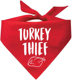 Turkey Thief Thanksgiving Dog Bandana Dog Clothing Pet Clever Red