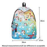Unicorn and Ice cream Design Backpack With Free Gift Unicorn Design Bags Pet Clever
