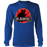 "Unique Design ""Dinosaur RAWR!"" Shirt & Hoodies T-shirt teelaunch District Long Sleeve Royal Blue S"