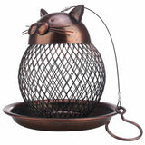 Vintage Cat Shaped Bird Feeder Home Decor Cats Pet Clever