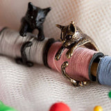 Vintage Cat Wrap Rings Cat Design Jewelry Pet Clever