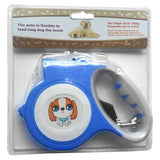 Walking Retractable Dog Leash With Bright Flashlight Dog Leads & Collars Pet Clever