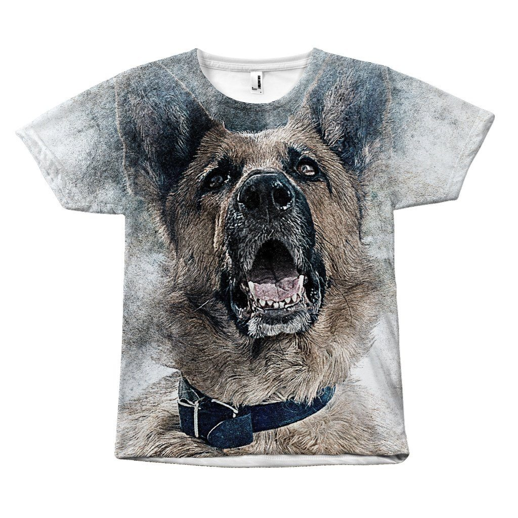 Watercolor Print German Shepherd Dog T-Shirt All Over Print teelaunch German Shepherd S