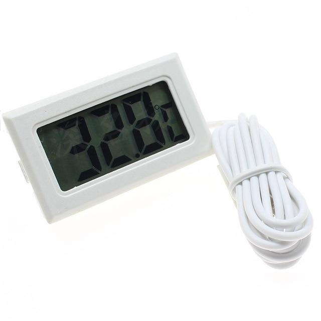 Waterproof LCD Electronic Aquarium Thermometer Aquarium Thermometer Pet Clever White