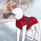 Waterproof Outdoor Warm Fleece Jacket Coat with Harness Dog Harness Pet Clever
