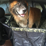 Waterproof Oxford Pet Car Seat Covers Camouflage Design Travel Pet Clever