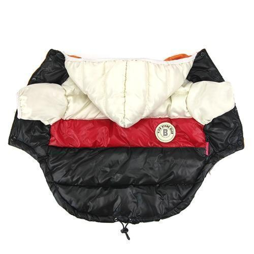 Winter Pet Clothes Warm Down Waterproof Coat Jacket Clothes Pet Clever WhiteRed S