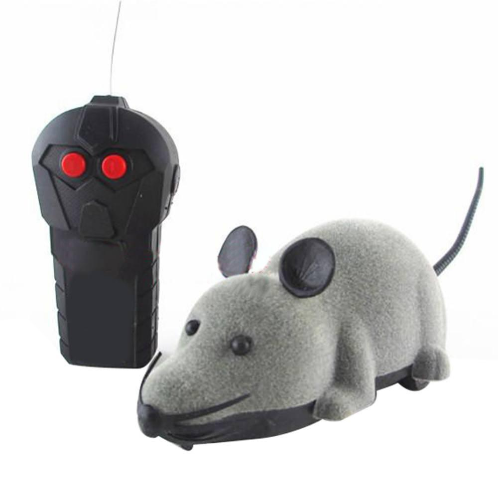 Wireless Remote Control Mouse Toy Cat Toys Pet Clever Gray