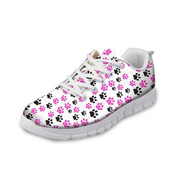 Women Fashionable Mesh Flats Shoes Paw Cat Prints Cat Design Footwear Pet Clever US 5 - EU35 -UK3