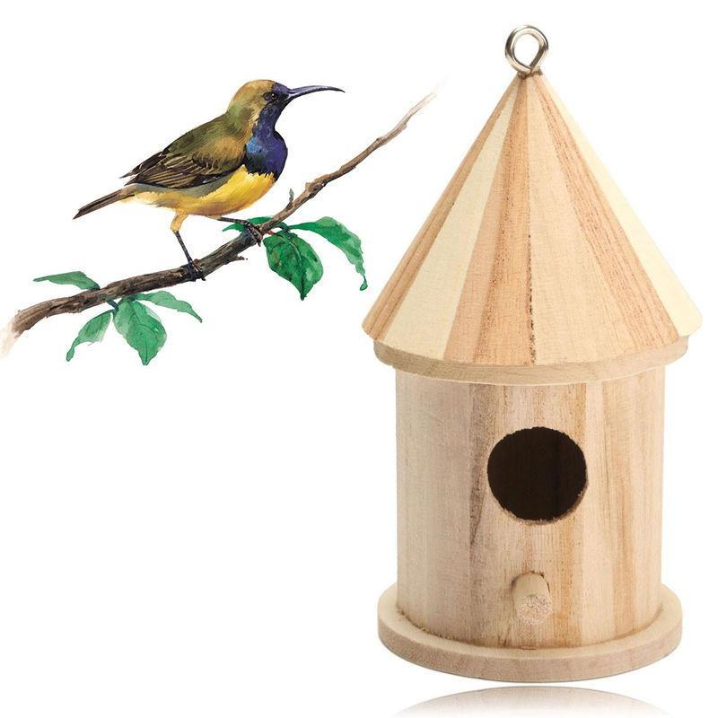 Wooden Wedding Bird House Cage Bird House and Nest Pet Clever