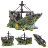 Wreck Sunken Ship Aquarium Decoration Aquarium Decoration Pet Clever